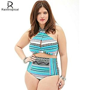 Other - Multi color High waist plus size 2 pc swimsuit